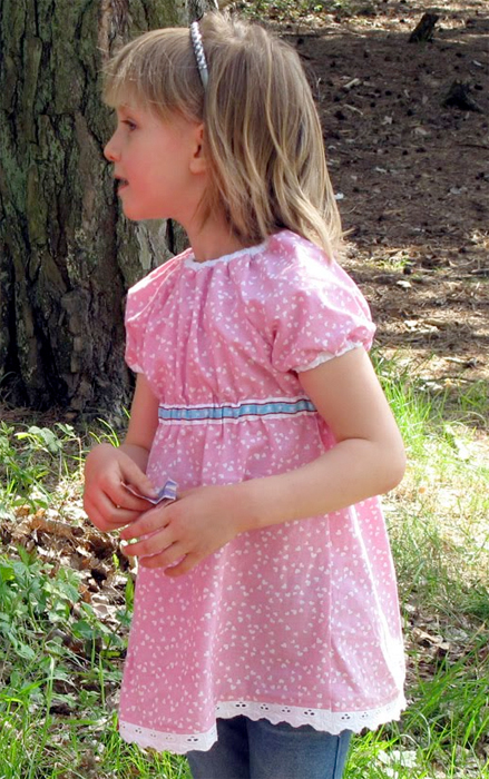 Tunika-Bluse nähen, Fotoanleitung, Schnittmuster farbenmix