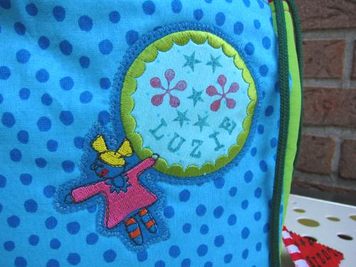Stempeln, Sticken, Schnittmuster Tasche Farbenmix