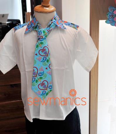 Krawatte nähen, LoveChirp, farbenmix Stoff, luzia pimpinella Design