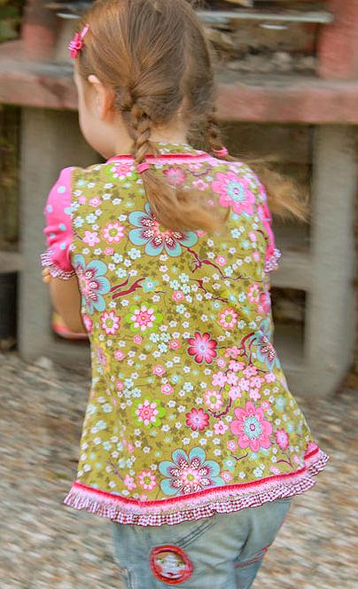 Tunika-Shirt nähen, Schnittmuster, Fotoanleitung farbenmix