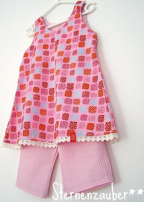 Tunika-Kombi für Mädchen, Anfänger, Schnittmuster farbenmix