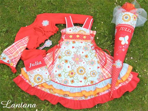 Einschulungskleid, Kombination, Schnittmuster farbenmix