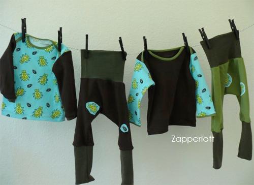 Baby-Kombi nähen, Schnittmuster für Kleine, farbenmix, Zwergenverpackung
