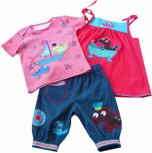 Babykleidung nähen, Schnittmuster, Fotoanleitung farbenmix