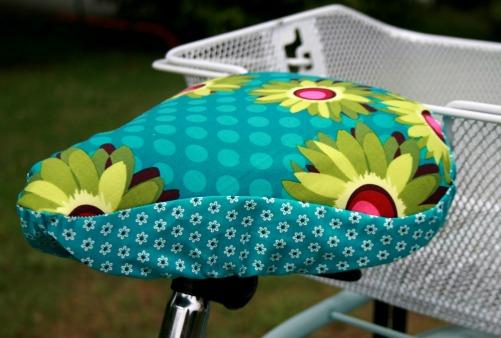 Fahrradsattelbezug nähen, Fotoanleitung traumschnitt farbenmix