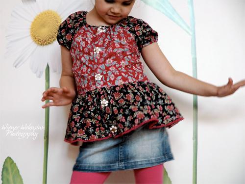 Bluse Kleid nähen, Anfänger, DESTINA, farbenmix Schnittmuster
