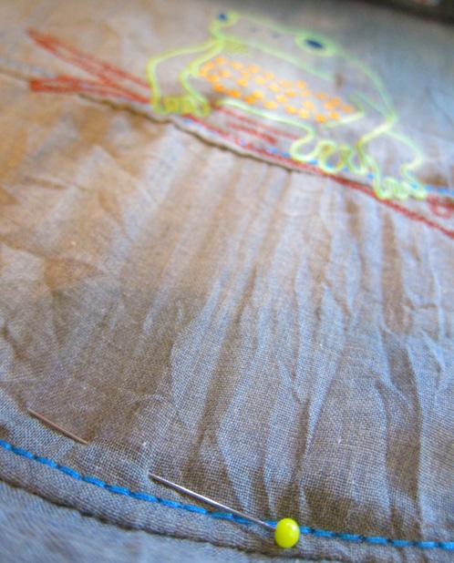 Sticken, Stoff einspannen, zarte Stoffe, farbenmix