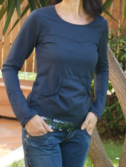 Damenshirt Fanö, Schnittmuster, Fotoanleitung farbenmix