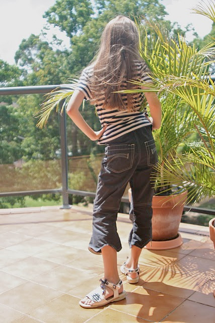 Hose für große Mädchen nähen, ZORRA, Schnittmuster farbenmix