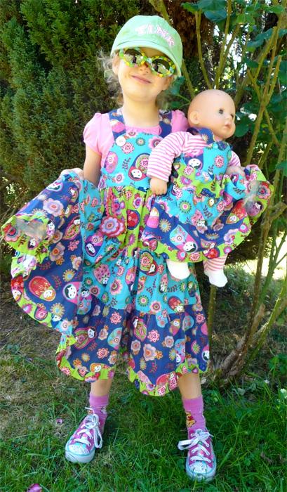 Puppenmode nähen, Kindermode, Fotoanleitung farbenmix