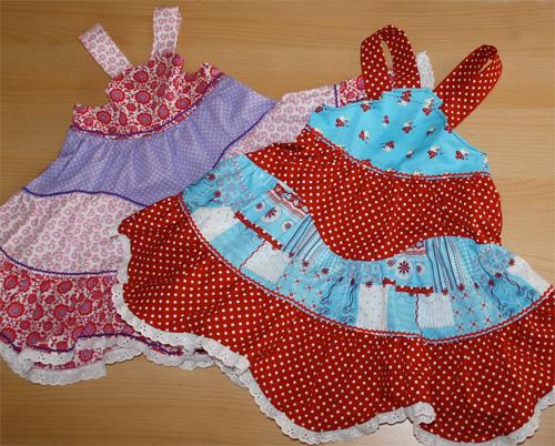 Mädchenkleid Schnittmuster, nähen mit farbenmix, Fotoanleitung