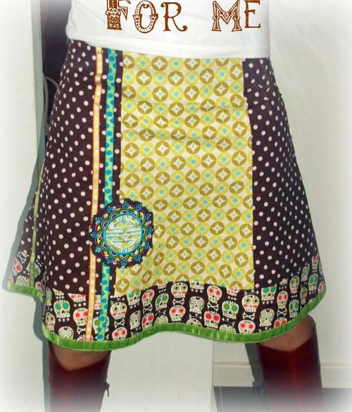 Damenrock nähen, Schnittmuster und Fotoanleitung bei farbenmix