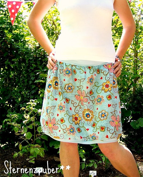 Damenrock nähen, Fotoanleitung, Schnittmuster farbenmix