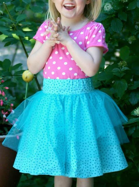 Tüllrock für Mädchen nähen, Schnittmuster und Anleitung von farbenmix