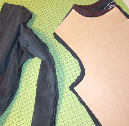 Recycle-style, upcycle Herrenshirts in Mädchenshirts, farbenmix