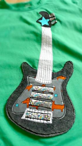 Gitarre, Applikationen, applizieren, farbenmix