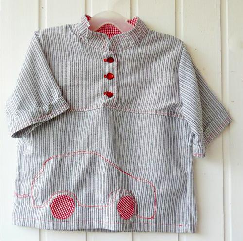 Hemd für kleine Jungs, Schnittmuster farbenmix