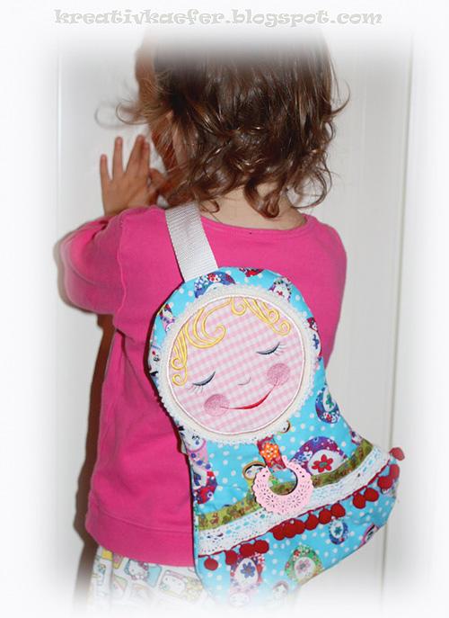 Crossbag, Kindergartentasche Schnittmuster, farbenmix