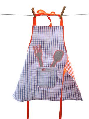 recycle-style Oberhemd wird zur Schürze, farbenmix
