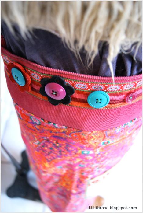 Schnittmuster Damenrock, Wickelrock farbenmix
