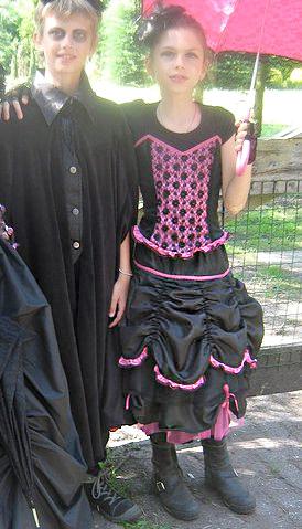 Gothic - Mode, selbst genäht, Schnttmuster farbenmix