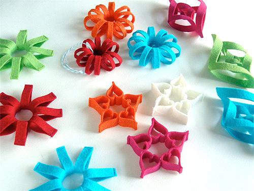 Filz - Sterne - nähen, Basteln mit Kindern, farbenmix
