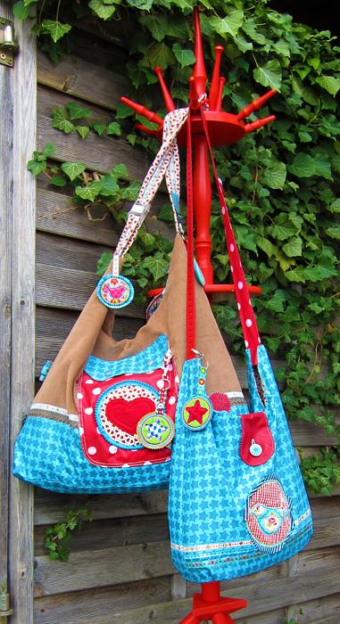 gratis Schnittmuster AllesDrin-Tasche, Taschenset, farbenmix