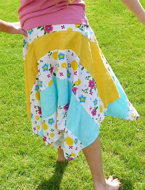 Einfaches Schnittmuster für einen Kinderrock, farbenmix
