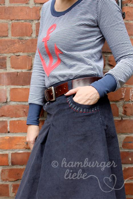 Schnittmuster Damenrock, Damenshirt, Anleitung farbenmix