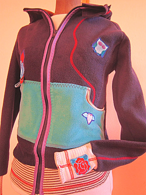 Schnittmuster Sweater, Nickyjacke, Kindermode, farbenmix