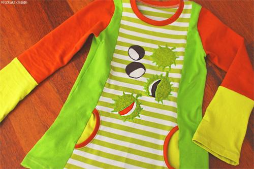 Schnittmuster Clementine Shirt farbenmix