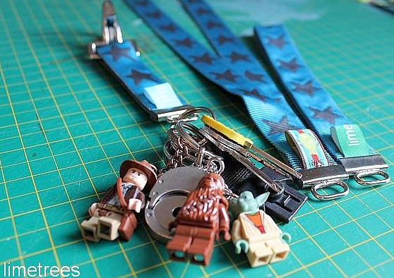 Tutorial: Schlüsselanhänger aus Gurtband, ohne Nähen, farbenmix
