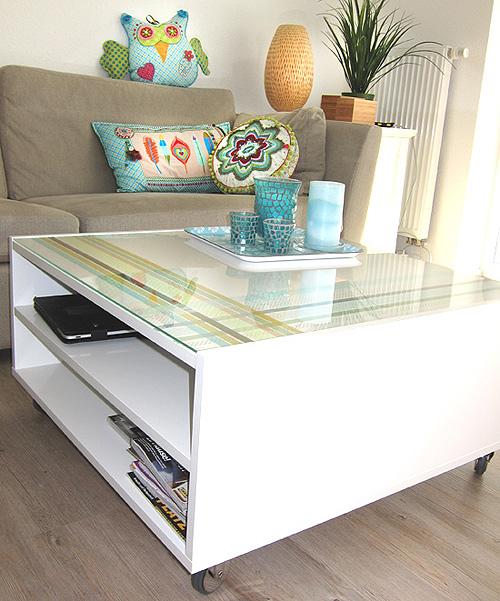Tisch verzieren, Washi-Tape, Ikea Hacker, farbenmix