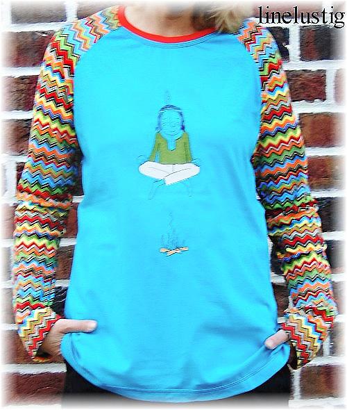 Shirt Damen Schnittmuster ZOELA farbenmix