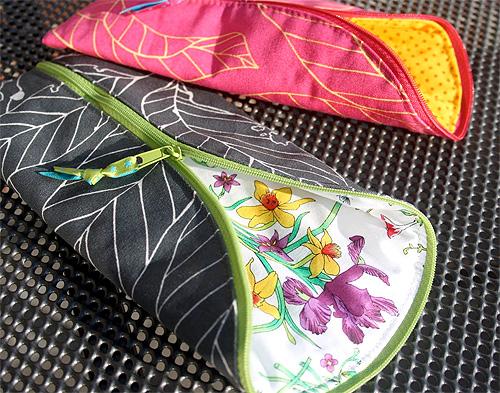 Tasche nähen, Schlamperl, Endlos-Reißverschluss, farbenmix