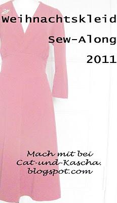 sew a long Weihnachtskleid, farbenmix