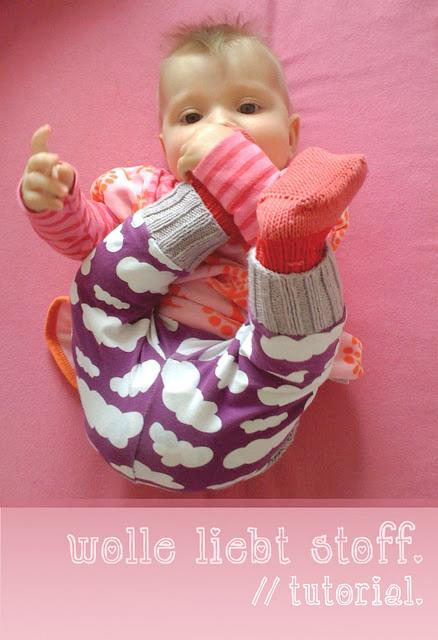 Strickbündchen für Babyhose, Tutorial, farbenmix.de