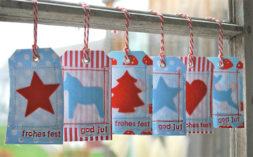 Geschenkanhänger aus Stoff Anleitung farbenmix