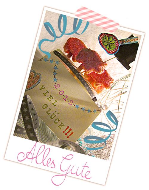 Sylvester 2011 farbenmix Alles Gute viel Glück