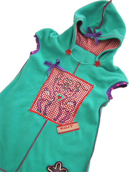 AMELIE Schnittmuster farbenmix Kleid warm kuschig Winterkleid