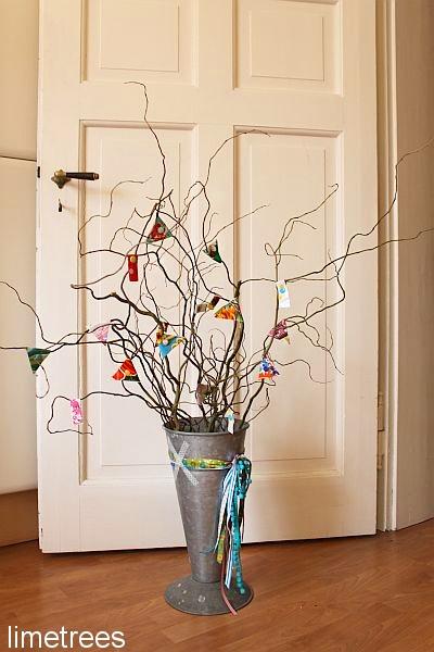 Webband Deko Idee Vase farbenmix
