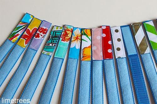 Klettbänder selber machen, Kletter, farbenmix, limetrees
