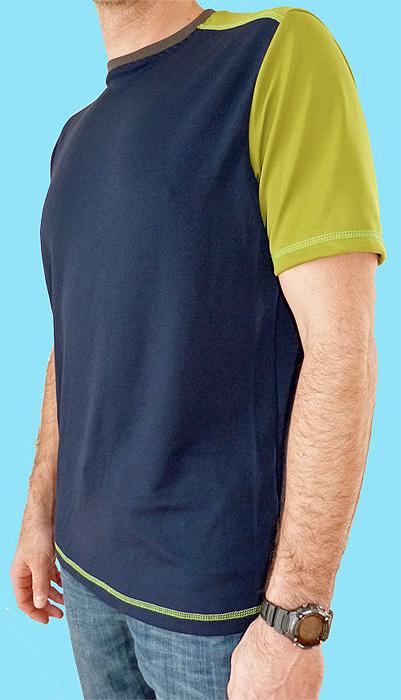 Herrenshirt, Schnittreif, farbenmix