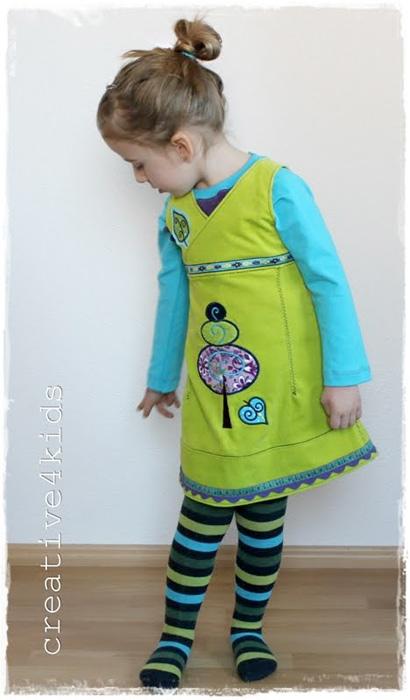 Schnittmuster Mädchenkleid XENIA, farbenmix