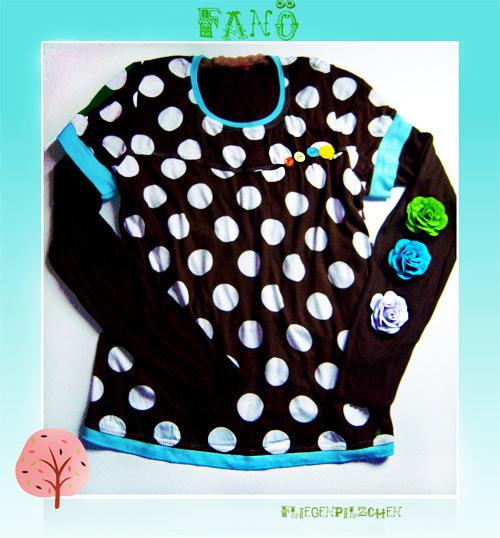 FANÖ Shirt Oberteil Damen Schnittmuster farbenmix