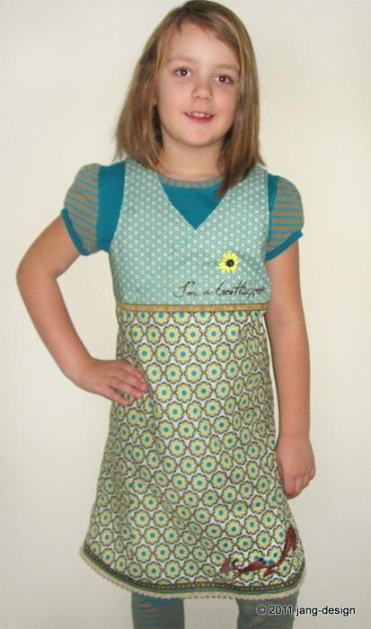 XENIA Schnittmuster Kleid Trägerkleid farbenmix