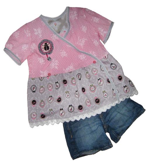 UNELLA-BLOMMA Schnittmuster Kombi Hose Shirt farbenmix