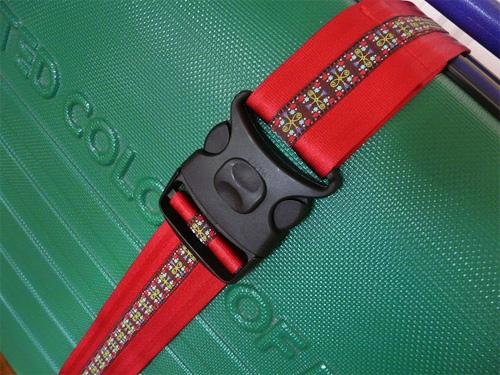 Koffergurt Anleitung Tutorial selber nähen Webband farbenmix