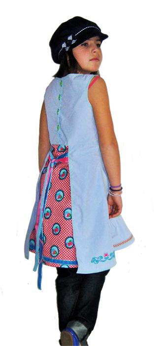 HALIMA Schnittmuster Kleid Trägerkleid farbenmix