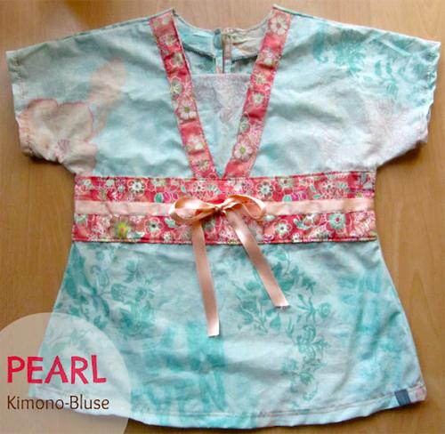 Schnittmuster, Nähanleitung Bluse für Mädchen, farbenmix